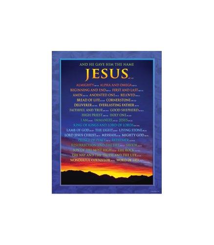 Christian Poster Chart - Carson Dellosa Christian Names of Jesus Chart (6324)