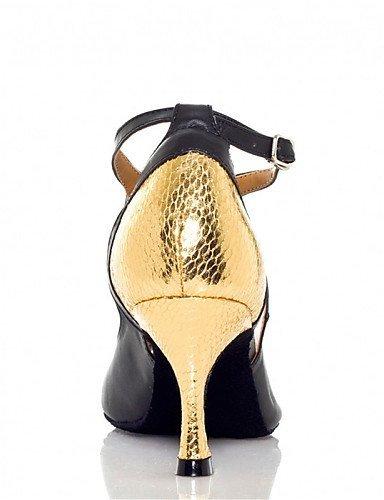 red Samba Personnalisé danse de black Salsa Talon ShangYi Jazz Chaussures de Multicolore Latine Autre and Similicuir Chaussures Personnalisables 1xT4q0S