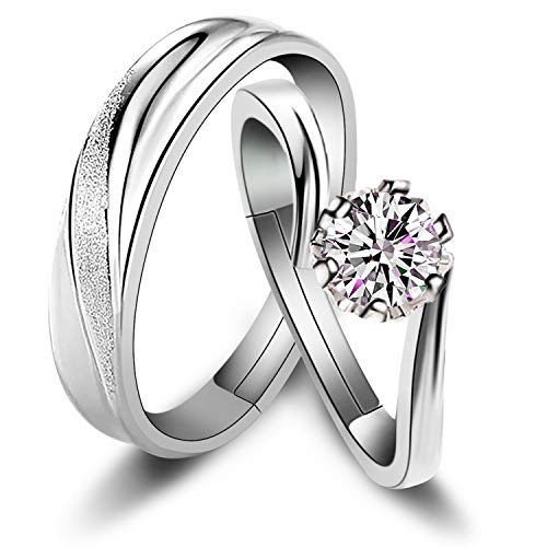 couple rings silver - 9