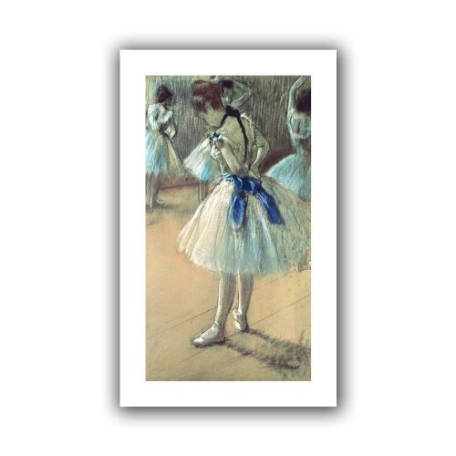 ArtWall 'Dancer' Unwrapped Flat Canvas Artwork by Edgar Degas, 14 by 22-Inch