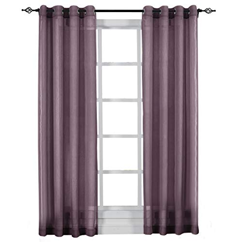Eggplant Curtains (Set of 2 Panels 100