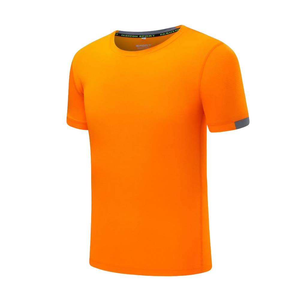 Naladoo Mens Breathable Sport Quick Dry Short Sleeve T-Shirt Fitness Top Blouse