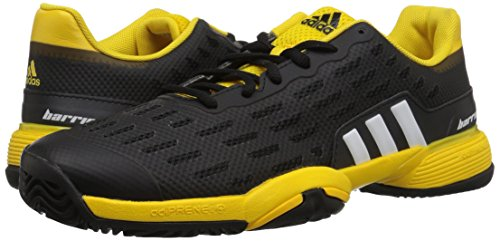 Pictures of adidas Kids' Barricade xJ Tennis Shoe BY9918 Black/White/Yellow 4