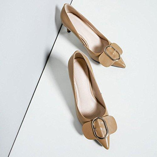 Pompes Robes DKFJKI Femme Brown Talons pour Mode Tips gwaYIcCq8Y