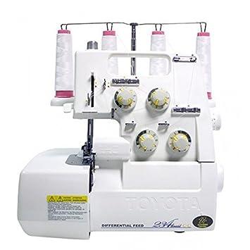 Toyota SL3487 Eléctrico - Máquina de coser (Blanco, Overlock, 5 mm, 1500 RPM, Eléctrico, 70 W): Amazon.es: Hogar