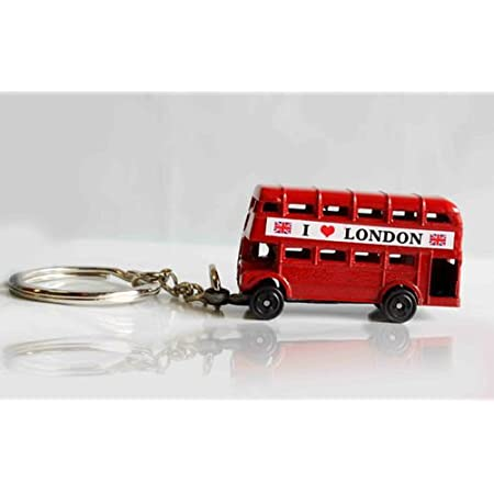 I love London Novelty BNWT London Double Decker Bus Metal Keyring SOUVENIR 41ILDakyh 2BL