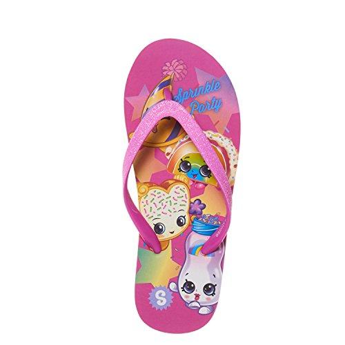 Shopkins Girls Girls Flip Flops with Sparkling Jelly Straps Fuschia - Flops Flip Kids