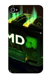 Freshmilk High Grade Flexible Tpu Case For Iphone 4/4s - Amd Computer Gaming Game Graphics ( Best Gift Choice For Thanksgiving Day) by ruishername