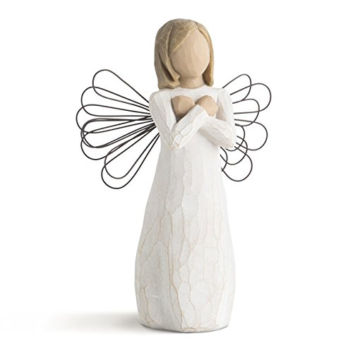 Willow Tree hand-painted sculpted angel, Sign for Love from Willow Tree