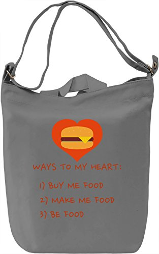 Ways to my heart Borsa Giornaliera Canvas Canvas Day Bag| 100% Premium Cotton Canvas| DTG Printing|