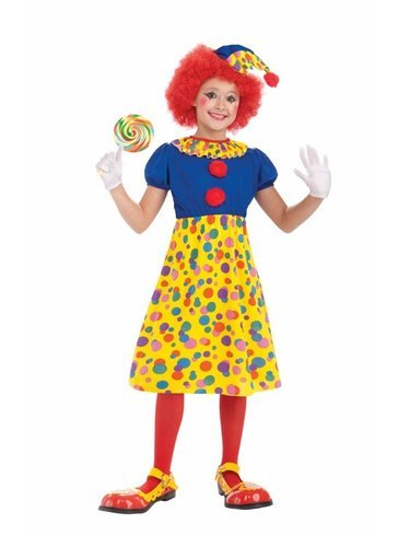 Forum Novelties Circus Clown Girl Costume, Child Large - Circus Girl Costumes