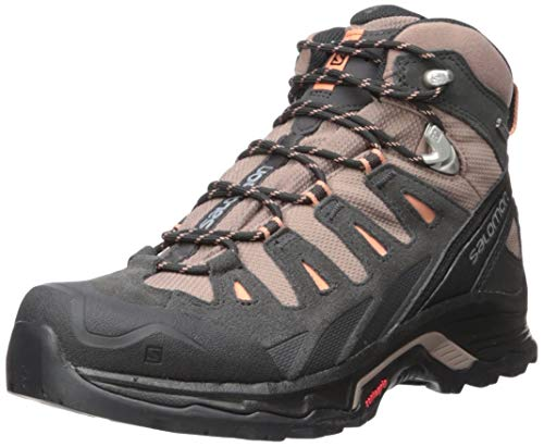 Salomon Women's Quest Prime GTX W Backpacking Boot, deep Taupe/Phantom/Tawny Orange, 9 M US
