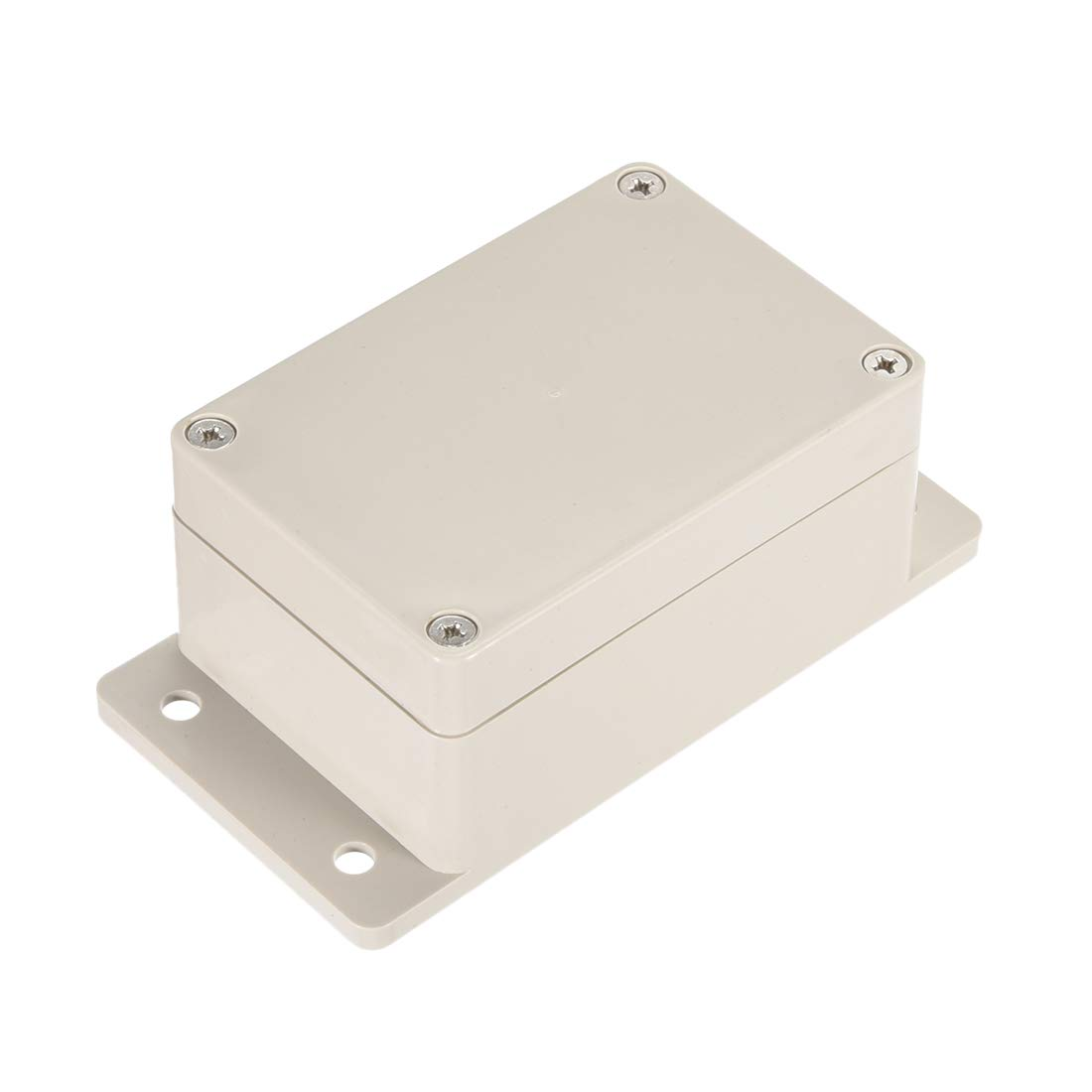 uxcell® 3.9x2.67x2(100mmx68mmx50mm) ABS Junction Box Universal Electric Project Enclosure w Mounting Fixed Hole a17031600ux1093