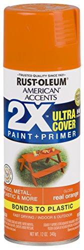 6 Paint - Rust-Oleum 327873-6 PK American Accents Spray Paint, Gloss Real Orange