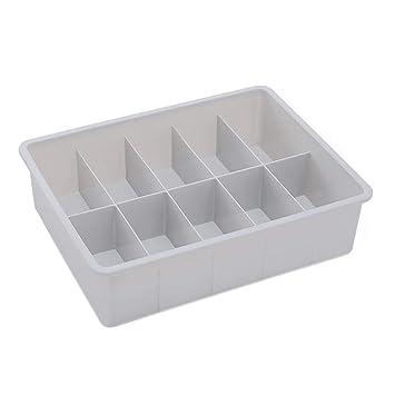 wiFndTu - Caja organizadora de plástico para Sujetador de Gran Capacidad, 15 Compartimentos, Color Blanco: Amazon.es: Deportes y aire libre
