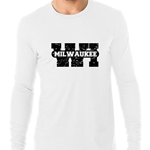 Milwaukee, Wisconsin WI Classic City State Sign Men's Long Sleeve T-Shirt ()