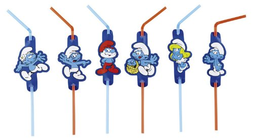 The Smurfs Classic Storhhalme / Straws For Children's Birthday Parties
