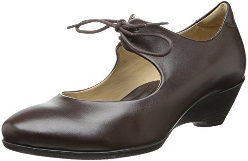 Ecco Mujeres Sculptured 45 Lace Dress Pump Coffee