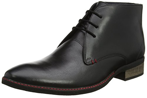 Botas para Blk Black Lth Hombre Lotus Leather Harlington Negro E4xS4w65