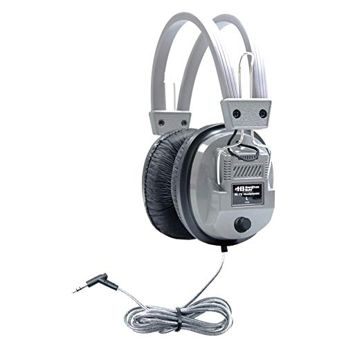 HamiltonBuhl SC-7V SchoolMate Deluxe Stereo Headphone with 3.5 mm Plug and Volume Control, Leatherette Cushions, Replaceable, Heavy-duty, Write-on, Reclosable Bag, Volume Control On Ear Cup