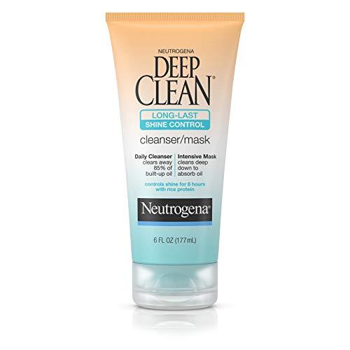 Neutrogena Deep Clean Long-Last Shine Control, Cleanser/mask, 6 Ounce