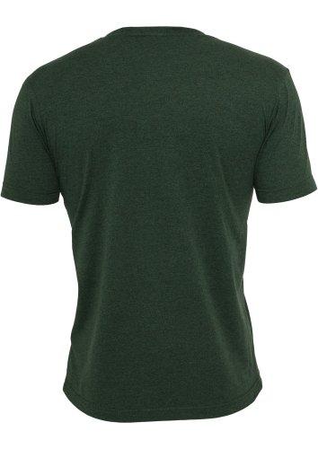 "Urban Classics Shirt ""Melange V-Neck Pocket Tee"", Größe: S, Farbe: forestgreen-black"
