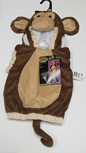 Totally Ghoul Soft Plush Monkey Vest with Hood & Tail Toddler Costume (Costume Monkey Tail)