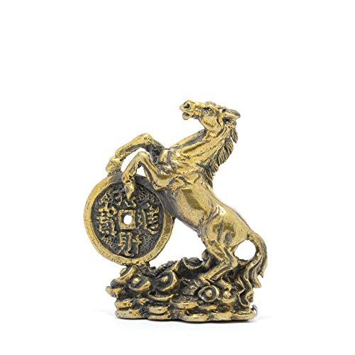 Thai Amulets statue Spirit Horse Brass Figurine Magic Rare Power Lucky Charm Rich.
