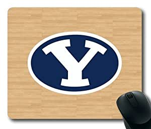 BYU Cougars Wood Rectangle Mouse Pad by eeMuse