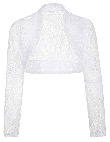 Ladies Floral Lace Shrug Bolero Cardigan Crop Top Under $15 JS49-2 2XL