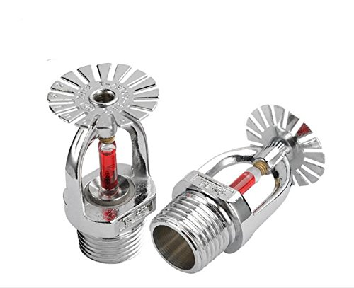 BLS BULUSHI lower 2pcs Fire Sprinkler 68 Centigrade 155.4 Fahrenheit 1/2'' PT Thread Silver Tone Fire Sprinkler Head by BLS