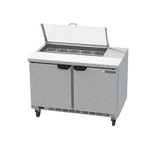 - Beverage Air SPE48HC-10-CL Elite Series Clear Lid Sandwich Top Refrigerated Counter, 48