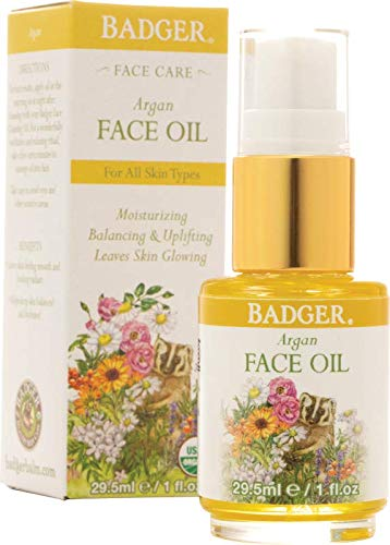Badger Argan Face Oil - 1 fl oz Glass Bottle