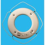 Jim-Buoy HS-20 W U.S.C.G. Approved Hard Shell Series Life Ring, White, 20''