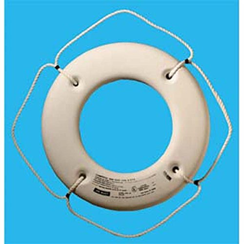 Jim-Buoy HS-20 W U.S.C.G. Approved Hard Shell Series Life Ring, White, 20