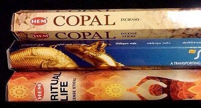 SPIRITUAL LIFE Copal Spiritual Guide 60 HEM Incense Sticks Sampler Gift Set