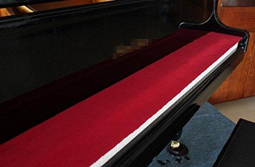 ETGtek(TM) Klavier-Tastatur-Staubschutz-Schlüssel-Abdeckung Schutztuch Wolle 127 x 15 cm (rot)