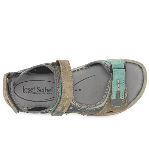 Josef Seibel Stefanie 23 - Sandalias de punta descubierta para mujer Mint Multi