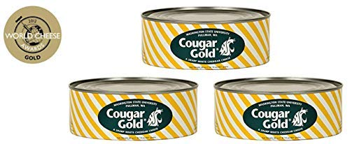 WSU Creamery Wazzu Cougar Gold Sharp White Cheddar Cheese (30oz Can) (3-Can Pack) by Washington State University (Image #4)