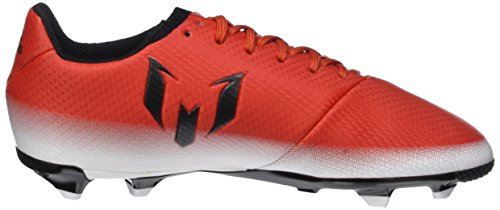 adidas Messi 16.3 Fg J, Botas De Fútbol para Niños Rojo (Red/core Black/ftwr White)