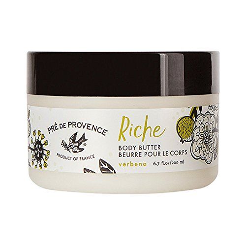 Pre de Provence Riche Collection Three Cream Hydrating and Soothing Body Butter, Verbena, 0.5 Pound ()