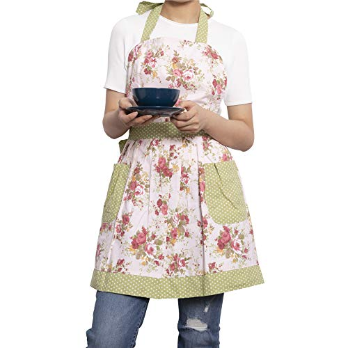 NEOVIVA Kitchen Aprons for Women with Pockets, Durable Women's Chef Aprons for Cooking, Baking, BBQ and Gardening, Style… 3