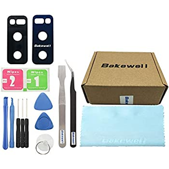 Bakewell Back Rear Camera Glass Lens Cover with Adhesive Fix Replacement Parts for Samsung Galaxy Note 8 N950(2Pcs)