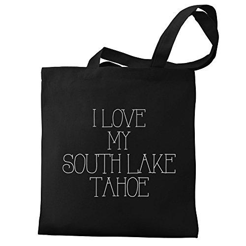 Eddany I love my South Lake Tahoe Canvas Tote - Lake Tahoe Shopping South