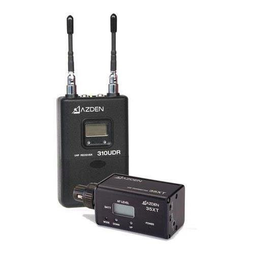 Azden 310xt UHF On-Camera Plug-in System, Consists of 310UDR Receiver with 35XT Plug-In Transmitter by Azden