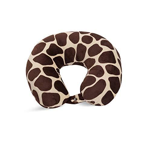 World's Best Feather Soft Microfiber Neck Pillow, Giraffe