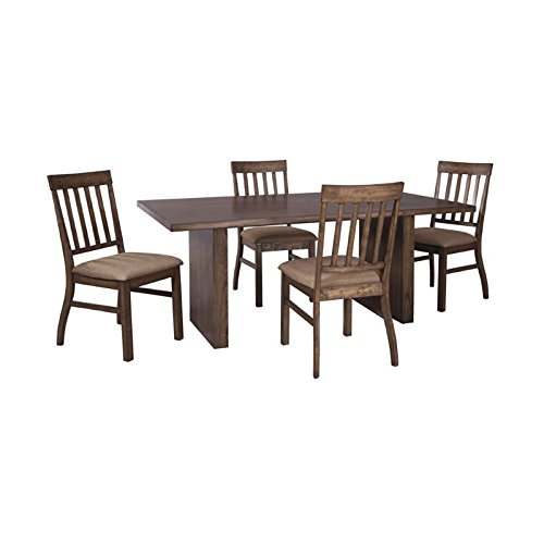 Ashley Zilmar 5 Piece Dining Set in Brown