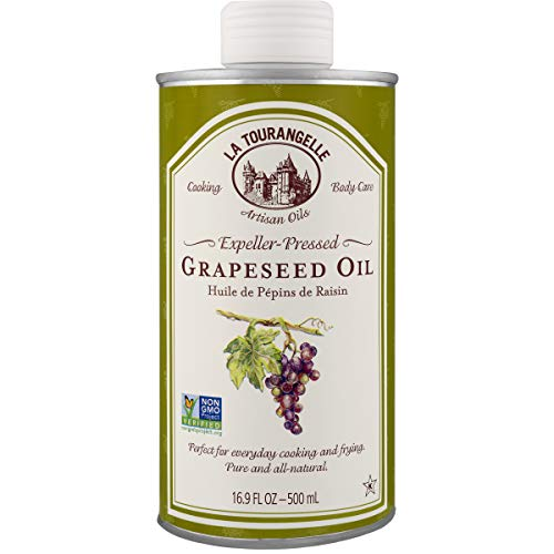 - La Tourangelle Grapeseed Oil 16.9 Fl Oz, All-Natural, Artisanal, Great for Cooking, Sauteing, Marinating, and Dressing