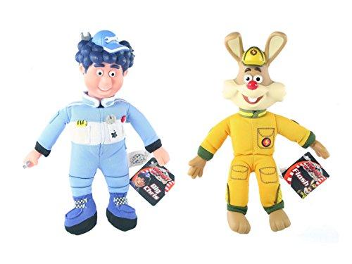 (Roary The Racing Car - Big Chris & Flash 24 cm Soft Toy Twin Pack)