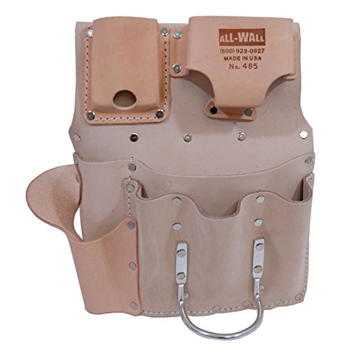 Drywall Tool Pouch 8-Pocket Flat Style by Heritage Leather